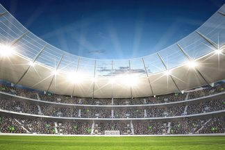 Flutlicht im Stadion