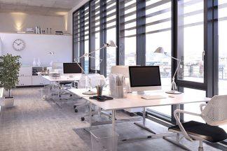 Ausgeleuchtetes Büro