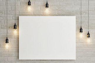 Weißes Bild an der Wand