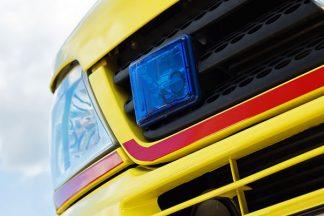 Frontblitzer am Rettungswagen