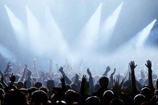 Große Party mit Licht